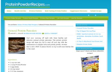 http://www.proteinpowderrecipes.com/protein-meal-recipes/oatmeal-protein-pancakes/