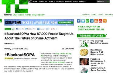 http://techcrunch.com/2012/01/23/blackoutsopa-how-87000-people-taught-us-about-the-future-of-online-activism/