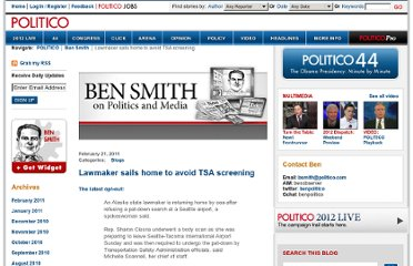 http://www.politico.com/blogs/bensmith/0211/Lawmaker_sails_home_to_avoid_TSA_screening.html