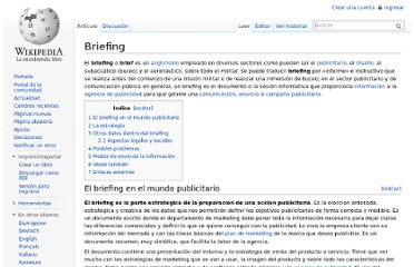 http://es.wikipedia.org/wiki/Briefing