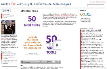 http://c4lpt.co.uk/top-100-tools-for-learning-2011/50-tools/