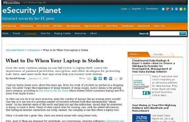http://www.esecurityplanet.com/views/article.php/3858036/What-to-Do-When-Your-Laptop-is-Stolen.htm