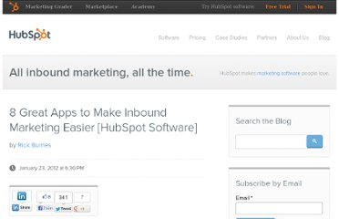 http://blog.hubspot.com/blog/tabid/6307/bid/30117/8-Great-Apps-to-Make-Inbound-Marketing-Easier-HubSpot-Software.aspx