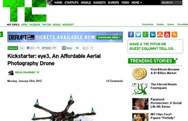 http://techcrunch.com/2012/01/23/kickstarter-eye3-an-affordable-aerial-photography-drone/