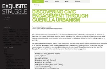 http://exquisitestruggle.blogspot.com/2009/07/discovering-civic-engagement-through.html