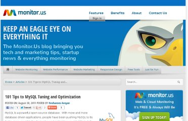 http://blog.monitor.us/2011/08/101-tips-to-mysql-tuning-and-optimization/
