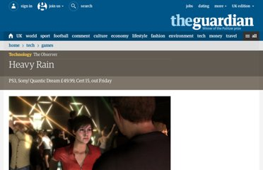 http://www.guardian.co.uk/technology/2010/feb/21/heavy-rain-sony-quantic-dream