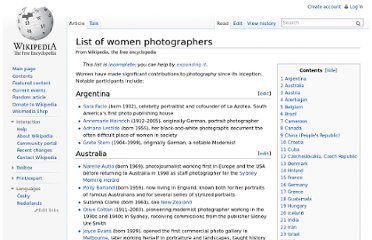 http://en.wikipedia.org/wiki/List_of_women_photographers