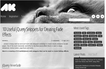 http://azharkamar.com/1904/10-useful-jquery-snippets-for-creating-fade-effects/