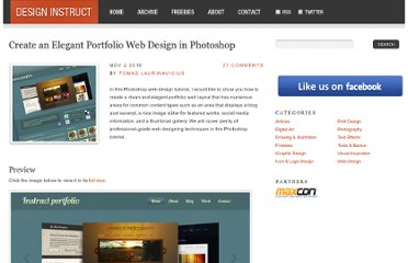 http://designinstruct.com/web-design/create-an-elegant-portfolio-web-design-in-photoshop/