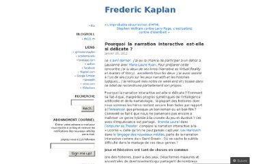 http://fkaplan.wordpress.com/2012/01/23/pourquoi-la-narration-interactive-est-elle-si-delicate/