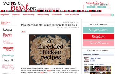 http://momsbyheart.net/meal-planning-40-recipes-for-shredded-chicken/
