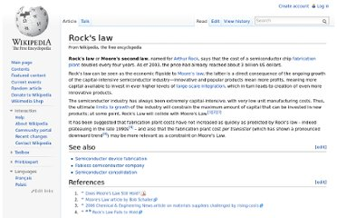 http://en.wikipedia.org/wiki/Rock%27s_law