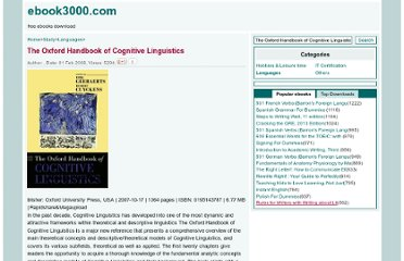 http://www.ebook3000.com/The-Oxford-Handbook-of-Cognitive-Linguistics_4766.html