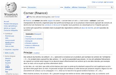 http://fr.wikipedia.org/wiki/Corner_(finance)