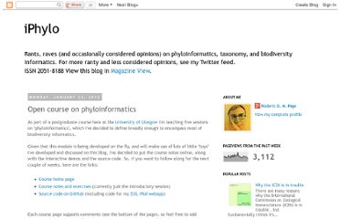 http://iphylo.blogspot.com/2012/01/open-course-on-phyloinformatics.html