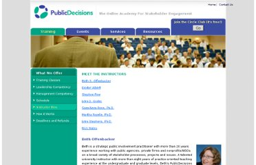 http://www.publicdecisions.com/instructor_bios.html#bio_albert