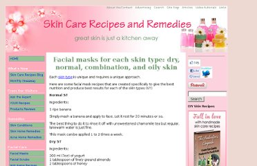 http://www.skin-care-recipes-and-remedies.com/skin-type.html