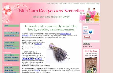 http://www.skin-care-recipes-and-remedies.com/lavender-oil.html