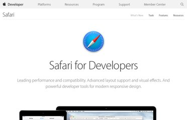 https://developer.apple.com/devcenter/safari/index.action