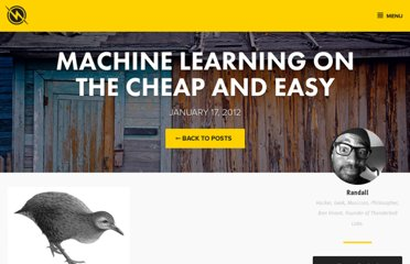 http://thunderboltlabs.com/posts/machine-learning-on-the-cheap-and-easy