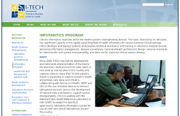 http://www.go2itech.org/what-we-do/heath-systems-strengthening/informatics-program/informatics-program