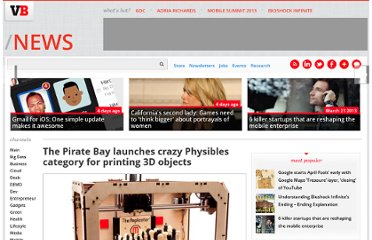http://venturebeat.com/2012/01/24/pirate-bay-physibles-category-3d-printers/