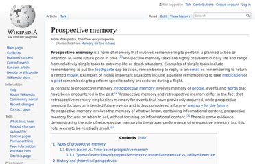 http://en.wikipedia.org/wiki/Memory_for_the_future