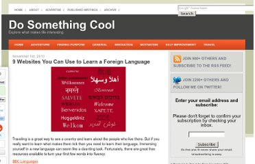 http://dosomethingcool.net/9-websites-learn-foreign-language/