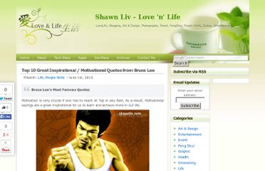 http://shawnliv.com/index.php/top-10-great-inspirational-motivational-quotes-from-bruce-lee/