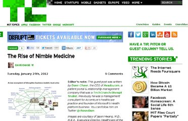 http://techcrunch.com/2012/01/24/the-rise-of-nimble-medicine/