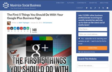 http://windmillnetworking.com/2012/01/24/first-5-things-google-plus-business-page/