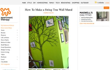 http://www.apartmenttherapy.com/how-to-make-a-string-tree-wall-109655