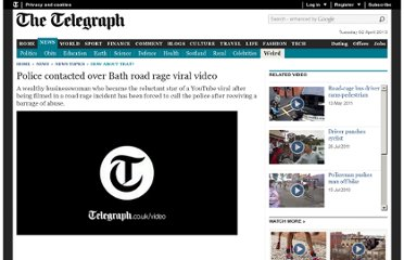 http://www.telegraph.co.uk/news/newstopics/howaboutthat/9033897/Police-contacted-over-Bath-road-rage-viral-video.html