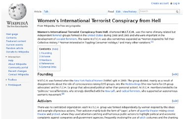 http://en.wikipedia.org/wiki/Women%27s_International_Terrorist_Conspiracy_from_Hell