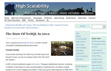 http://highscalability.com/blog/2012/1/24/the-state-of-nosql-in-2012.html