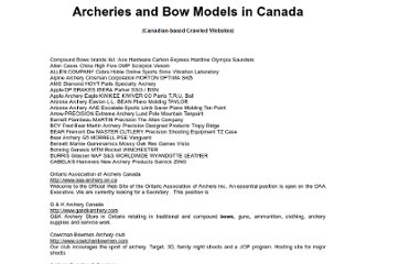 http://www.trycanada.com/other_canadian_links/archeries_in_canada.htm