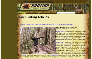 http://www.huntingtipsandtricks.com/a/Traditional_Bow_Hunting