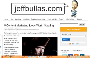 http://www.jeffbullas.com/2012/01/25/5-content-marketing-ideas-worth-stealing/