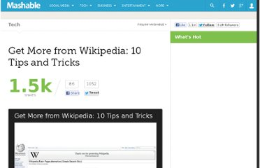 http://mashable.com/2012/01/24/wikipedia-tips-tricks/