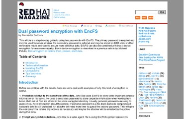 http://magazine.redhat.com/2007/06/13/dual-password-encryption-with-encfs/