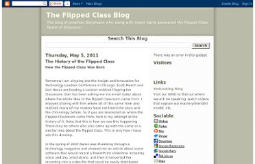 http://blendedclassroom.blogspot.com/2011/05/history-of-flipped-class.html