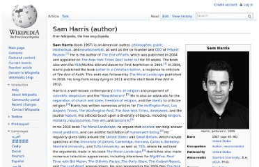 http://en.wikipedia.org/wiki/Sam_Harris_(author)