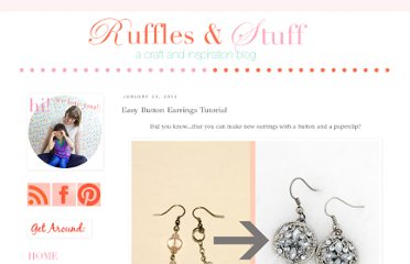 http://www.rufflesandstuff.com/2012/01/easy-button-earrings-tutorial.html