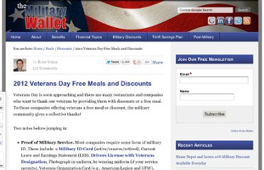 http://themilitarywallet.com/veterans-day-free-meals-and-discounts/#axzz1dK2lG1Ox