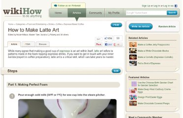 http://www.wikihow.com/Make-Latte-Art