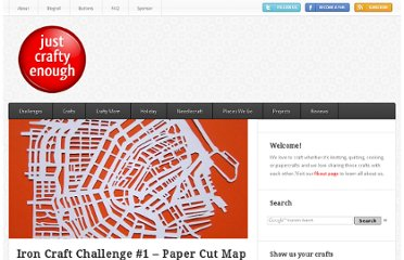 http://www.justcraftyenough.com/2012/01/iron-craft-challenge-1-paper-cut-map/