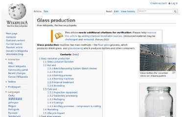 http://en.wikipedia.org/wiki/Glass_production