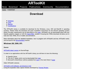 http://www.hitl.washington.edu/artoolkit/download/