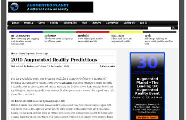 http://www.augmentedplanet.com/2009/12/2010-augmented-reality-predictions/